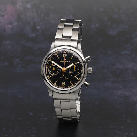 Rolex. A stainless steel manual wind chronograph bracelet watch  Oyster 'Monoblocco', Ref: 3525, Circa 1940