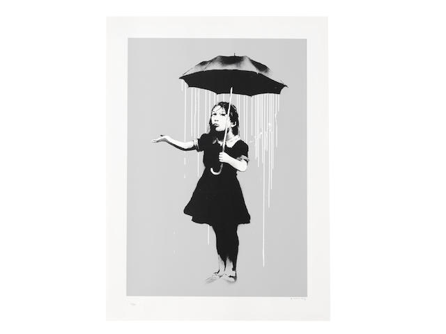 BANKSY (BORN 1974) Nola (White) Screenprint in colours, 2008, on wove paper, signed and numbered 176/289 in pencil, published by Pictures on Walls, London, with their blindstamp, the full sheet, in very good condition, framedImage 639 x 438mm. (25 1/8 x 17 1/4in.); Sheet 753 x 545mm. (29 3/4 x 21 1/2in.)