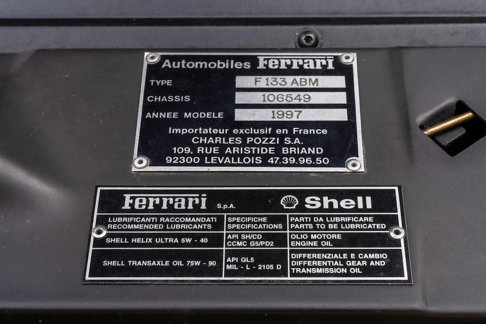 1997 Ferrari 550 Maranello  Chassis no. ZFFZR49B000106549