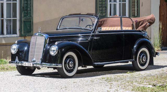 1952 Mercedes-Benz 220 Cabriolet B  Chassis no. 187.013-05-897/52 Engine no. 180.920-06-100/52