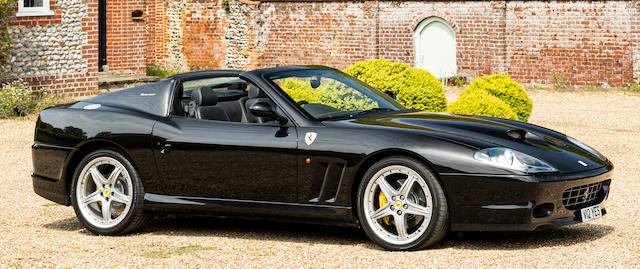 One of only five UK-supplied right-hand drive manual models,2005 Ferrari 575M Superamerica Convertible  Chassis no. ZFFGT61000144215