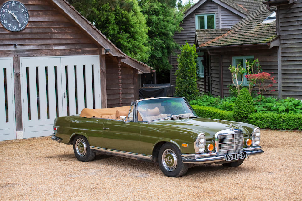 1971 Mercedes-Benz 280 SE 3.5 Convertible  Chassis no. 11102712002926