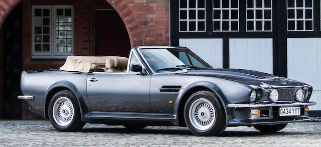 1989 Aston Martin V8 Vantage Volante 'X-Pack' 7.0-Litre  Chassis no. SCFCV81V3KTL15790