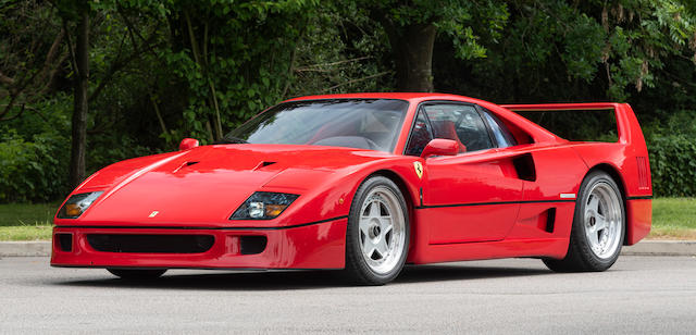 First owned by Sir Paul Vestey,1990 Ferrari F40 Berlinetta  Chassis no. ZFFGJ34B000084104