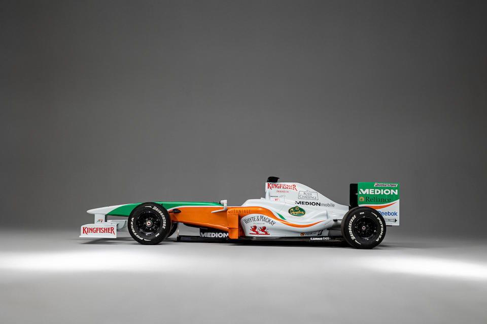 The Ex-Paul di Resta/Nico Hulkenberg 19-Grands Prix, World Championship points scoring,2011 Force India-Mercedes VJM-04 Formula 1 Racing Single-Seater  Chassis no. VJM04-02
