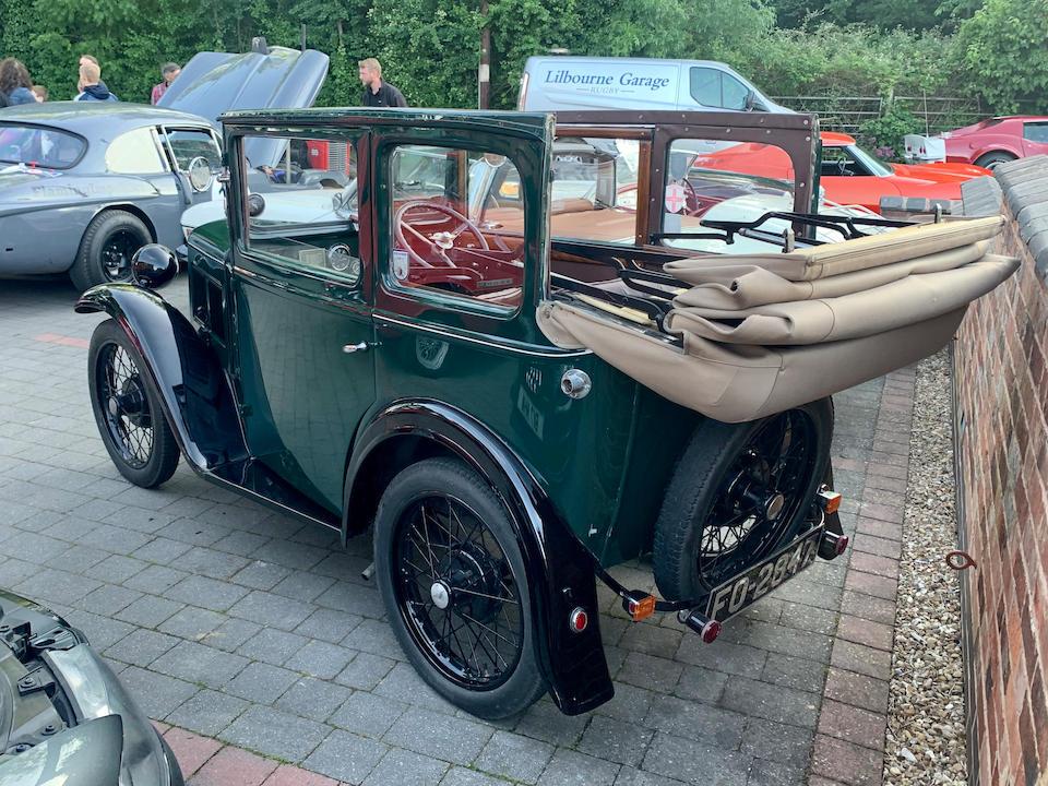 1931 Austin Seven (Crank Handle Cabriolet)  Chassis no. 141590