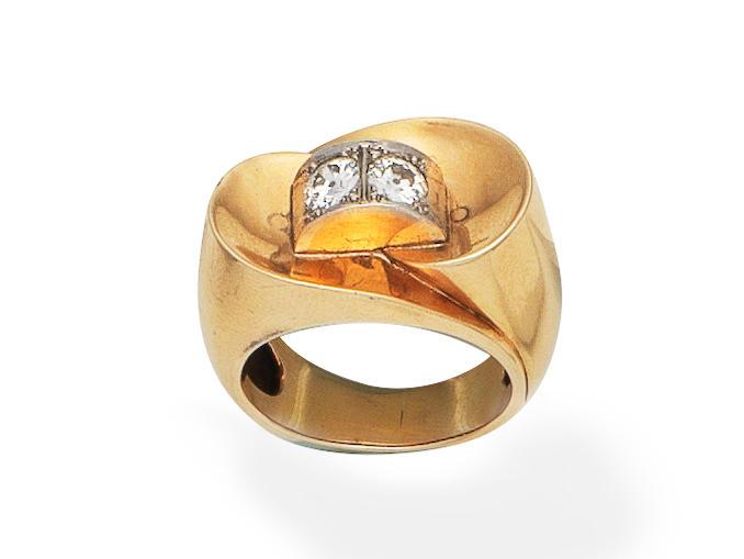 DIAMOND-SET DRESS RING,
