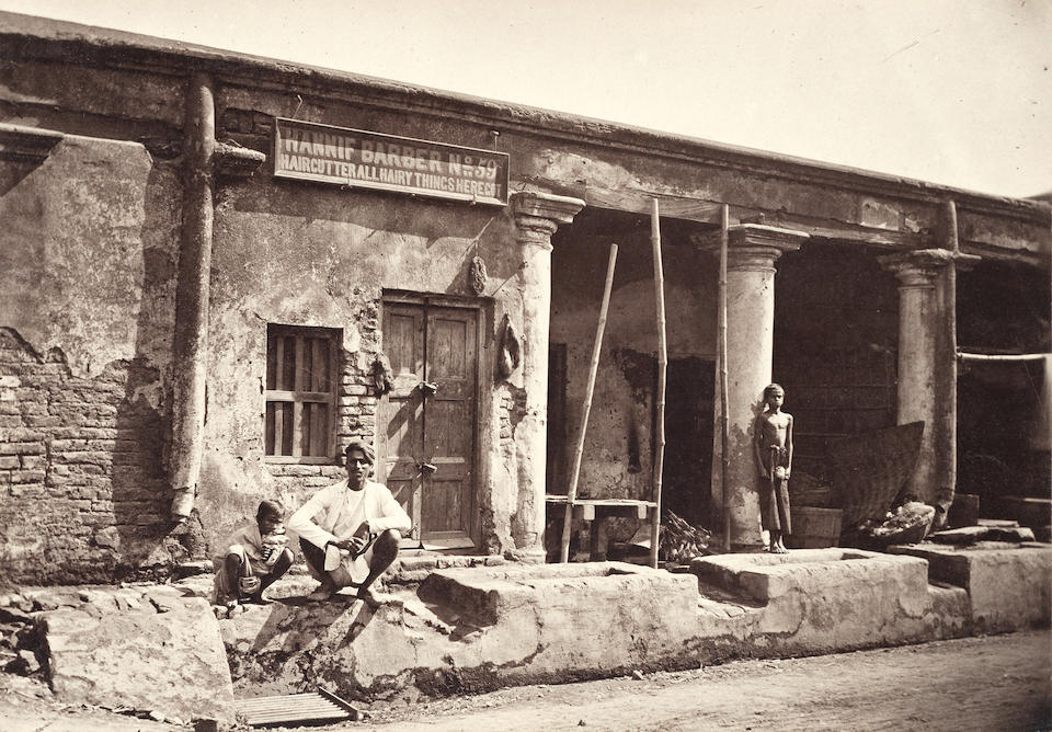 "DELHI, KOLKATA, AGRA - NINETEENTH CENTURY PHOTOGRAPHY Collection of 39 good views and ""types"", comprising Kolkata (9), Delhi (5), Agra (11, one by Bourne & Shepherd), Varanasi (5, 2 by Bourne and Shepherd), Mumbai (3), Chennai, Sri Lanka (4), and a portrait of Sha-Jehan after an Indian miniature, [third quarter of the nineteenth century) (39)"