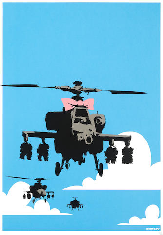 Banksy (British, born 1974) Happy Chopper Screenprint in colours, 2003, on wove, numbered 367/750 in pencil, published by Pictures on Walls, London, full sheet, 700 x 500mm (27 1/2 x 19 5/8in)(SH)