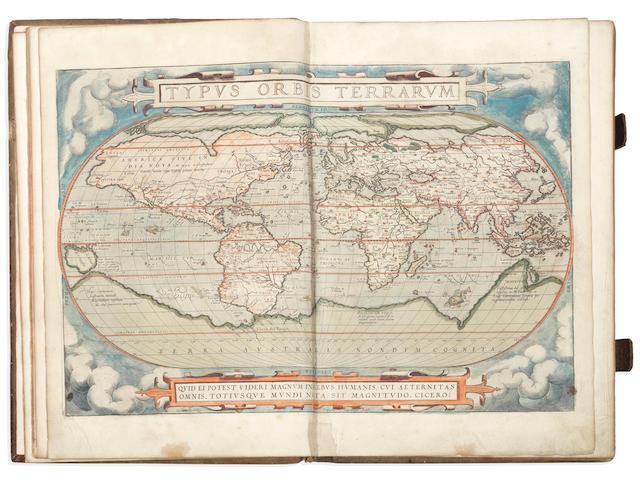 ORTELIUS (ABRAHAM) Theatrum orbis terrarum, 2 parts in 1 vol. (including Synonymia), Antwerp, A. C. van Diest, 1574