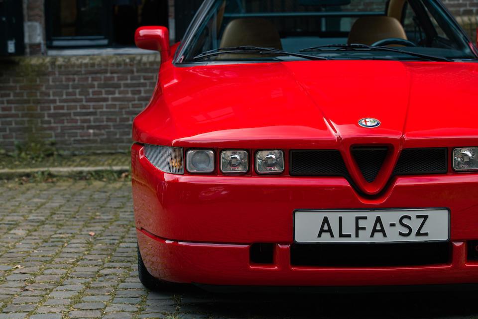 Only 1,300 kilometres from new,1991 Alfa Romeo  SZ Coupé  Chassis no. ZAR16200003000590 Engine no. AR61501000600