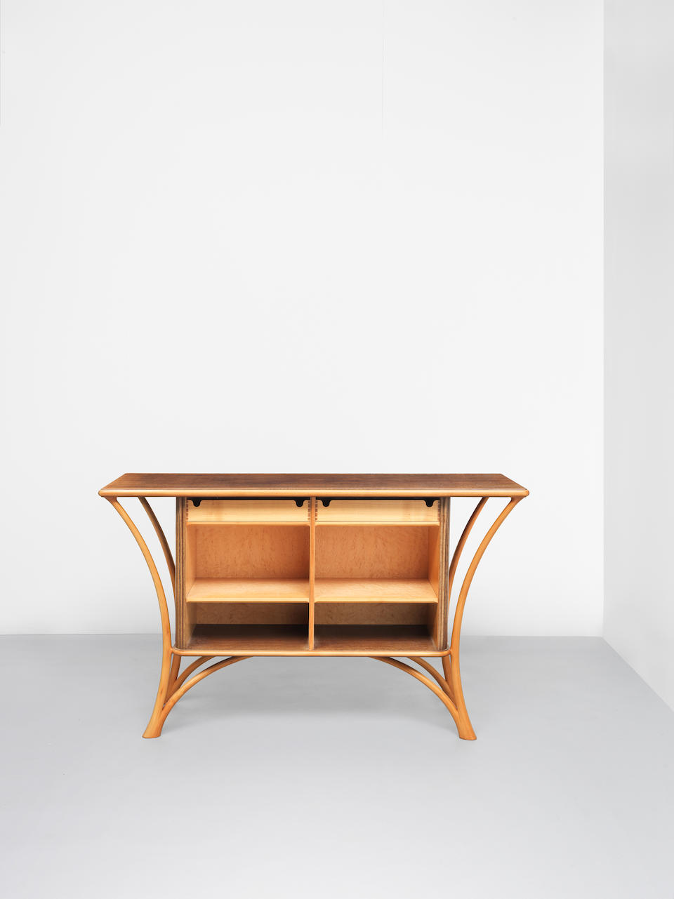 John Makepeace OBE Unique sideboard with tambour doors, designed for a private commission, London, 1985-1986