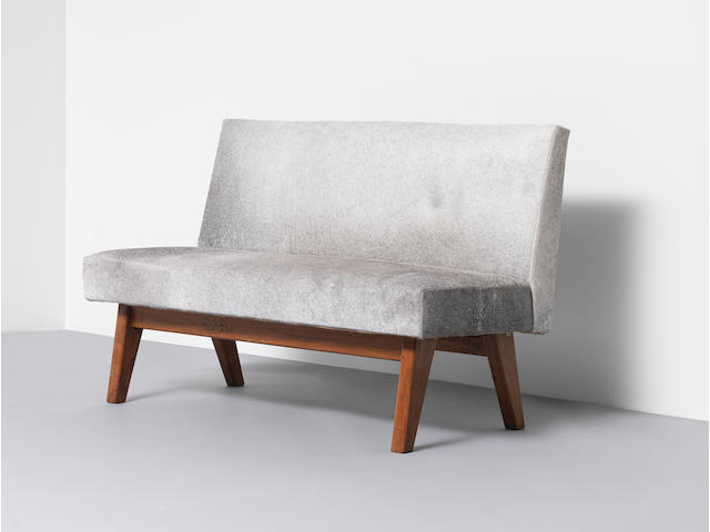 Pierre Jeanneret Bench, model no. PJ-SI-38-B, designed for the High Court, Chandigarh, circa 1955